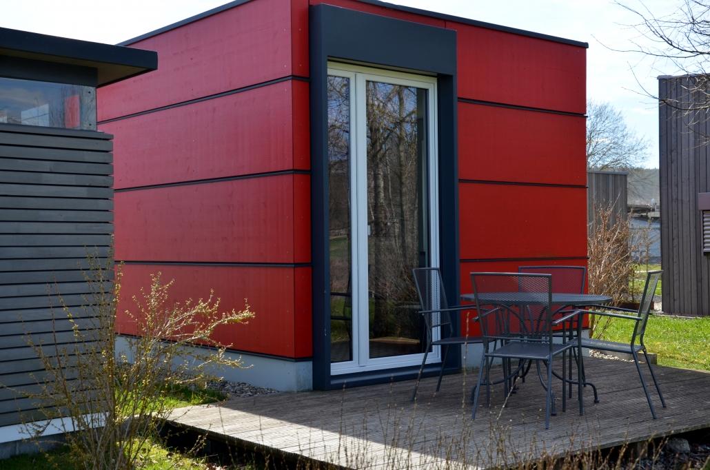 terrasse bungalow seencamping krauchenwies. Black Bedroom Furniture Sets. Home Design Ideas